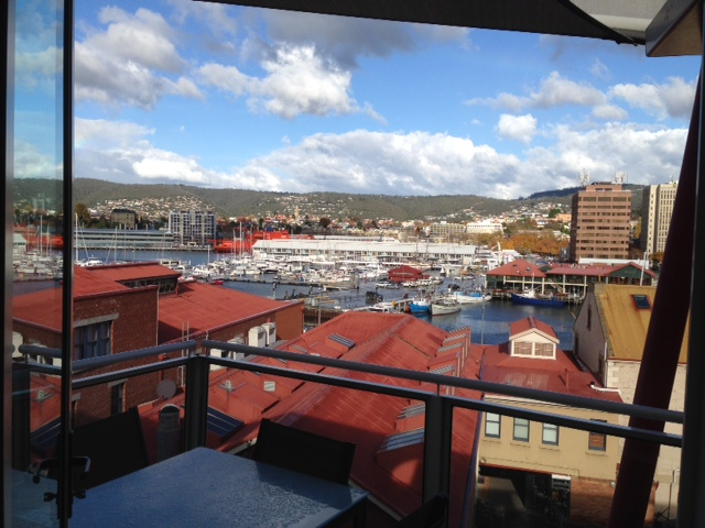 Hobart: view from our apartment
