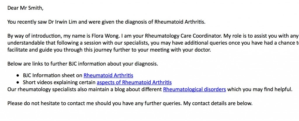 RCC 1st email