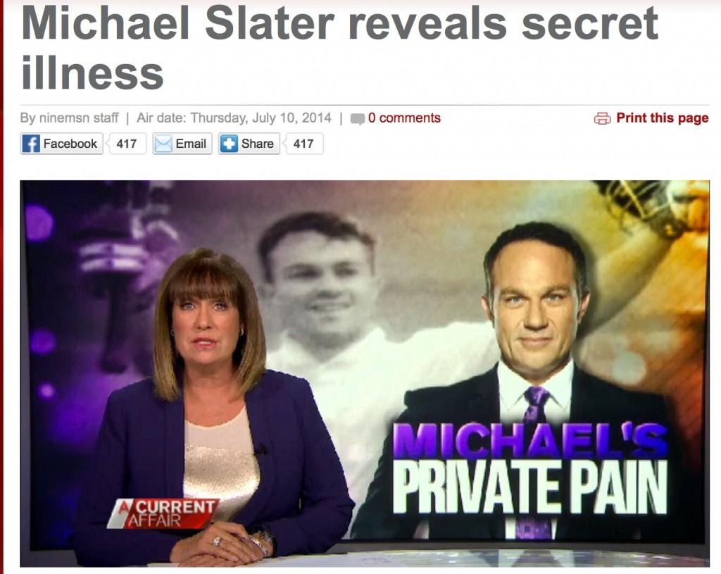 A Current Affair: Michael Slater