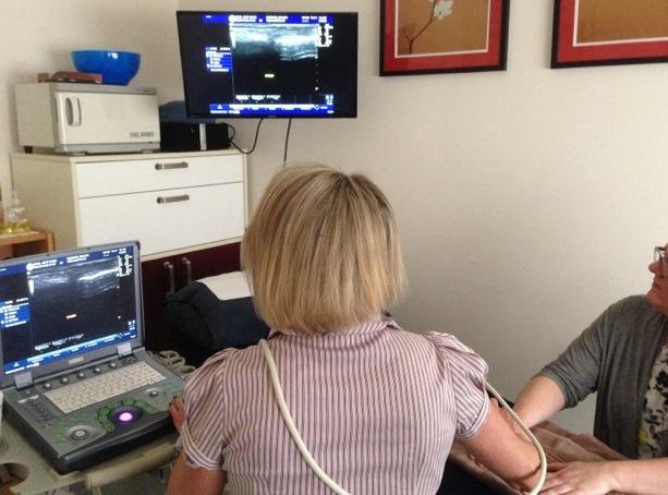 Diagnosing rheumatoid through ultrasound