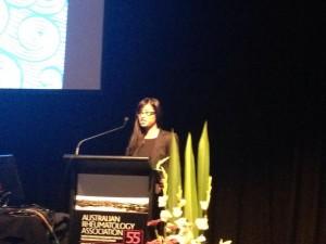 Belinda presenting at ARA