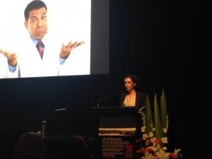 Sarah presenting at ARA