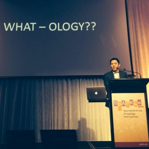 Irwin speaking at SpArKLE in Melbourne