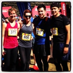 Rachael, Errol, Sarah and Hans during their preparation for the Oxfam Trailwalker in 2013