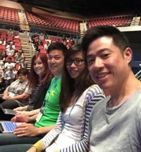 Rachael, Errol, Belinda and Hans ready for the Keynote Speech!