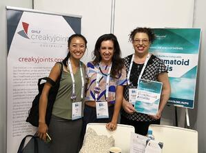 Sarah and Robyn with Rosemary from Creaky Joints!
