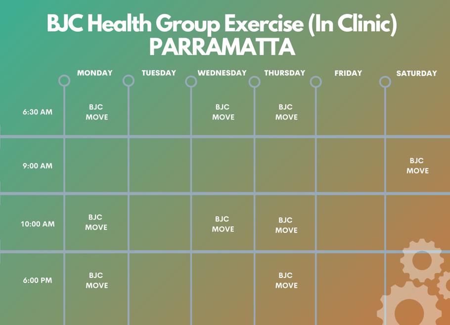 Parramatta BJC In Person Timetable